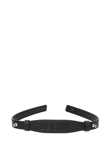 Loewe Loewe  Logo Kabartmalı Deri Çanta Aksesuarı 101613427 Siyah